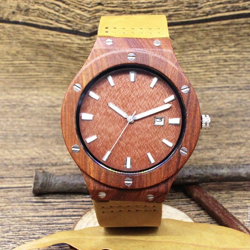Quartz Wrist Watch  Relogio Feminino  Wooden Watch  Quartz Watches  TJW    Bamboo Wooden Watch  Top Brand Luxury  Date Display  Zebra Wood4