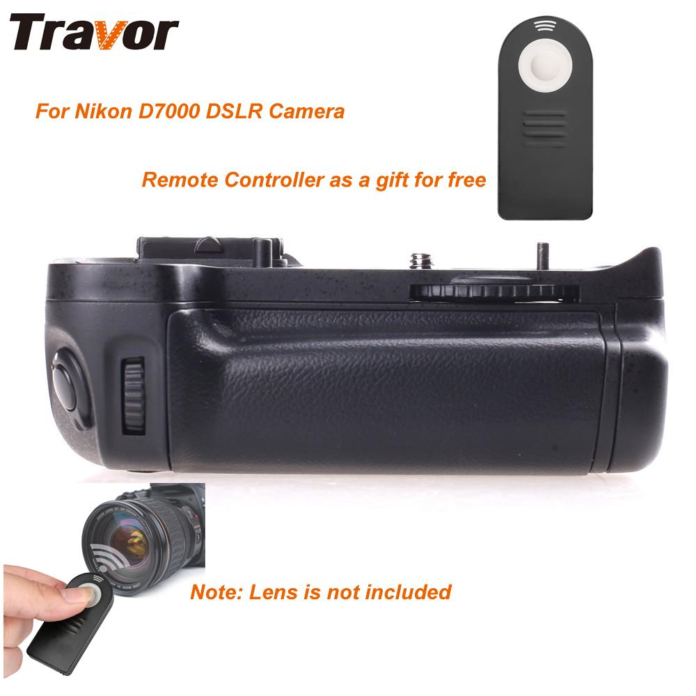 Prix pour Travor batterie grip pour nikon d7000 dslr comme mb-d11 + 2 pcs support de batterie + télécommande universelle
