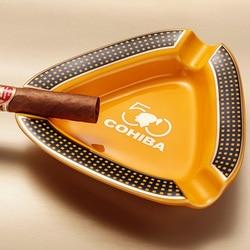 Wysokiej klasy COHIBA Creative Creamic dwa kolory uchwyt 3 reszta cygaro popielniczka|Popielniczki|   -
