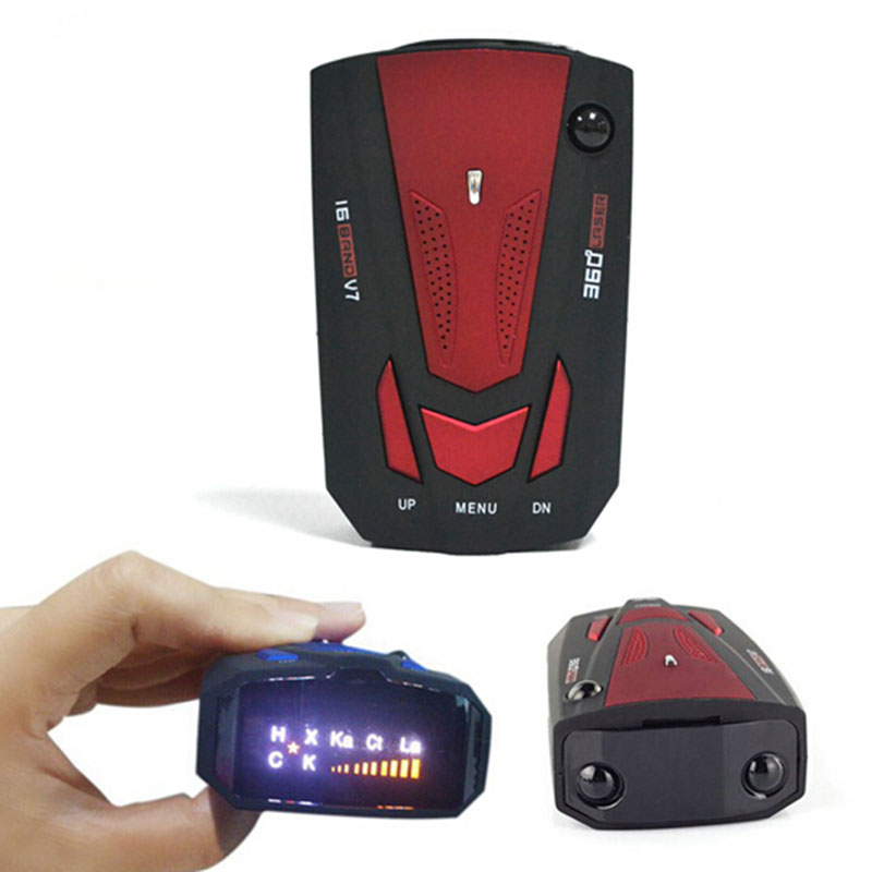Auto 360 Degree Car Radar for Car V7 Speed Voice Alert Warning 16 Band