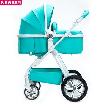 รถเข็นเด็กทารกสูงภูมิทัศน์ใหม่เกิดเด็กทารกพับผลักดันรถเข็น