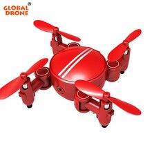 Global de Bolso Mini Drone Drone com Câmera HD 2.4G 4CH RC Wi-fi helicóptero Pairar Dron FPV Micro Quadrocopter Brinquedos VS CX10W S9