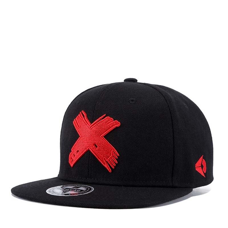 2018 Gorras Planas Chaude style rouge Croix broderie chapeau plat baseball cap Hip Hop chapeau pour homme et femmes Butin Hommes relances