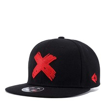 3e1b75e3ad0 2018 Gorras Planas Hot style red Cross embroidery flat hat baseball cap Hip  Hop Cap hat