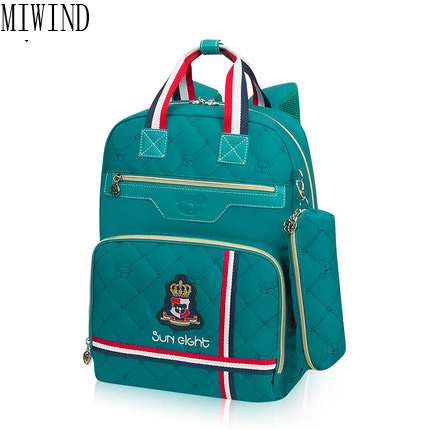 MIWIND 2017 Children School Bags Children Backpack In Primary School Mochila Escolar for Girls Boys Waterproof Backpacks TYG795