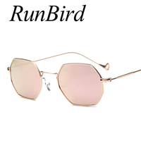 2017 New Metal Frame Mirror Optical Sun Glasses Women Classic Hexagon Square Clear Sunglasses Men Fashion