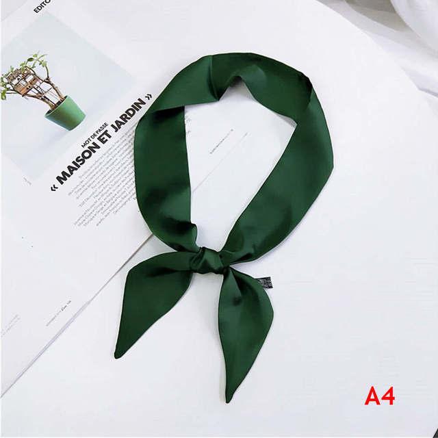 Women Elegant 90*5cm Small Silk Feel Satin Scarf Neckerchief Head-Neck Tie Band Hair Rope Bag Tie Wristband Wrap Popular Sale