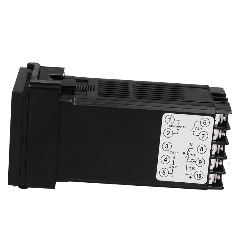 Set di controller regolatore termostato digitale PID REX-C100 con - Strumenti di misura - Fotografia 4