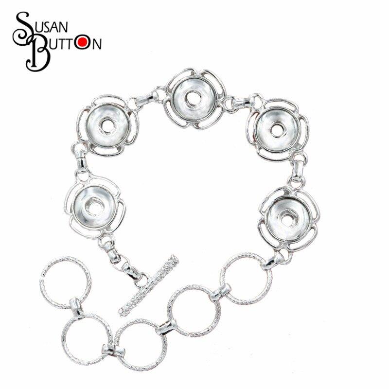Terbaru 24 CM tombol Snap Gelang Mini 5 Tombol Snap Logam Gelang Fits 12mm  Snap Tombol Charm Perhiasan Gratis pengiriman SJSB1271. ) 03648af511