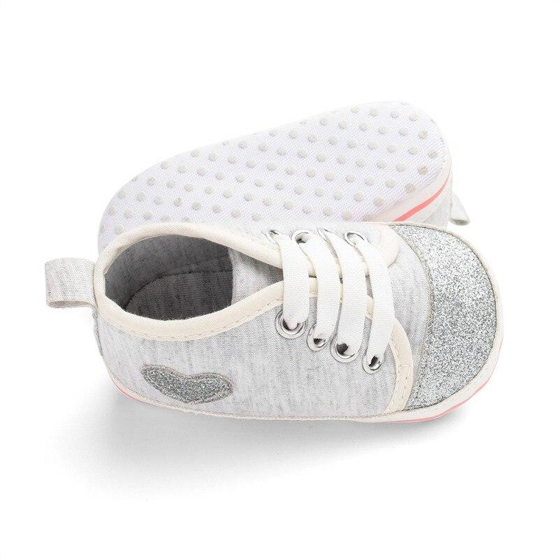 Shiny Heart Shape Baby Girl Shoes