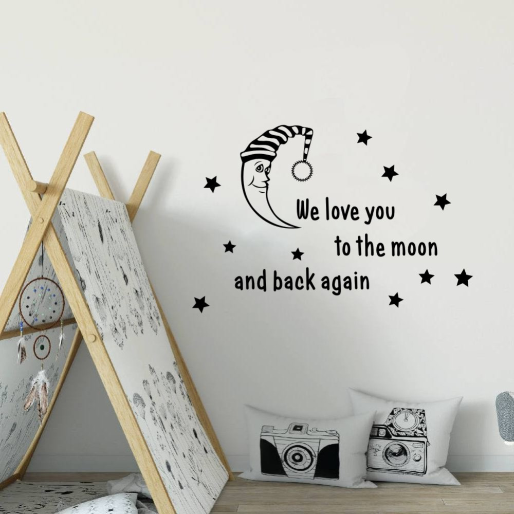 Aliexpress Com Buy We Love You To The Moon And Back