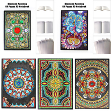 DIY Creative Special Shaped Diamond Painting Notebook Diary Book 64 Page A5 Notebook Embroidery Diamond Cross Stitch Craft Gift handbook password with lock diary student creative handbook notebook a5 notebook thick notebook diary