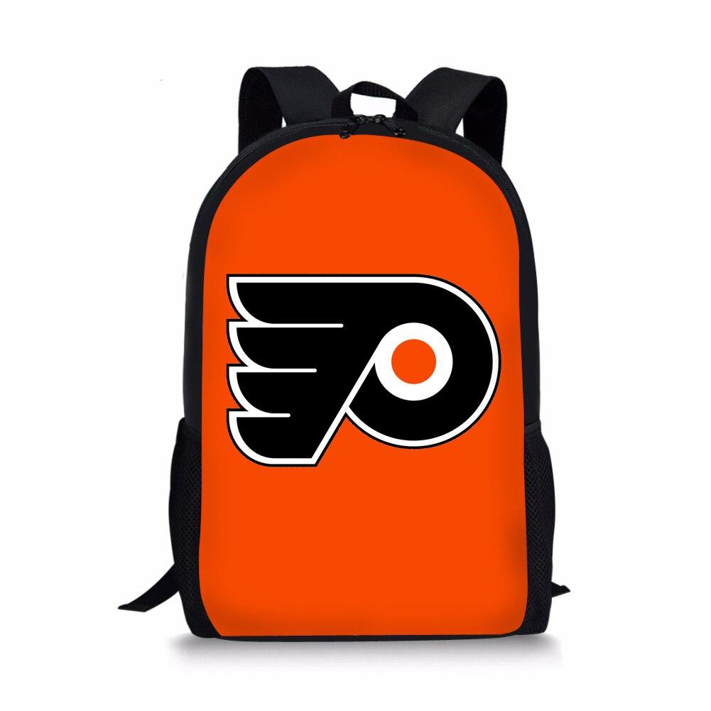 THINK Kids Bookpack Philadelphia Flyers Printing School Backpack For Teenagers 16 Inch Large Capacity Children School Bag Custom