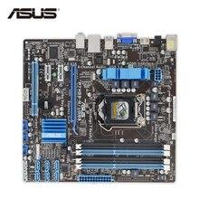 ASUS P7H55-M/USB3 оригинальный использоваться для настольных ПК P7H55-M USB3 H55 разъем LGA 1156 i3 i5 i7 DDR3 16 г SATA3 USB3.0 uatx