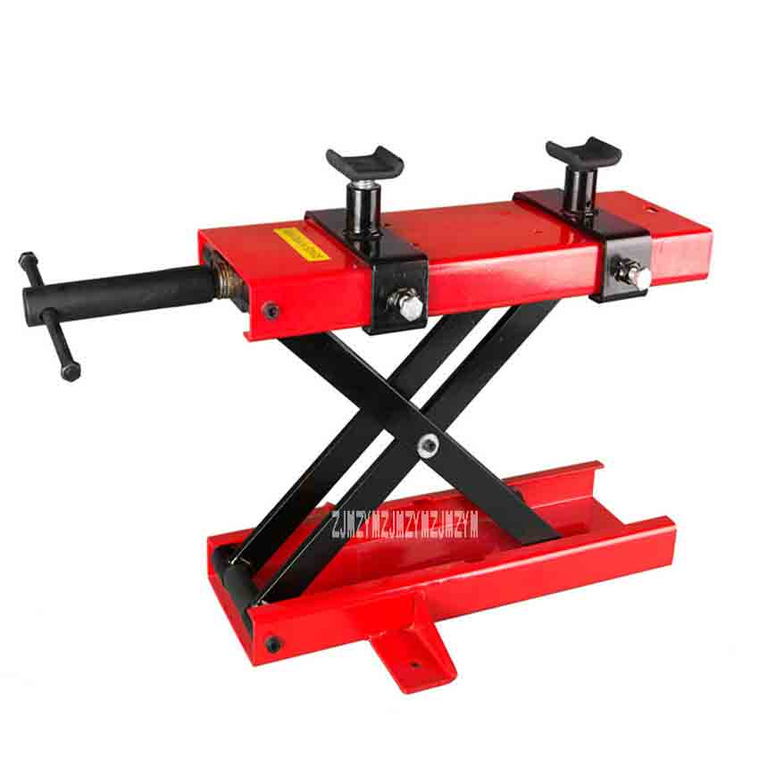 500KG Scissor Hoist Jack Lifting Cranes Motorcycle Repair Stand Center Scissor Lift Hoist Workshop Bench Lifting Tool(450*150mm) цена