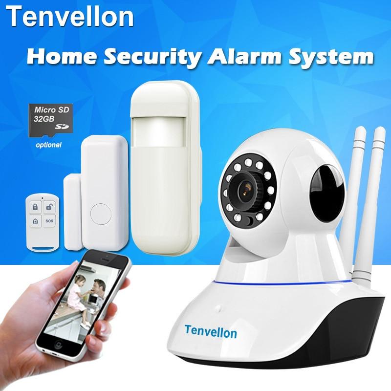 Tenvellon 警報システムのセキュリティホーム無線 Lan ワイヤレスネットワークセキュリティ警報システムキット IP カメラドアセンサー赤外線モーション検出器  グループ上の セキュリティ & プロテクション からの 警報システムキット の中 1