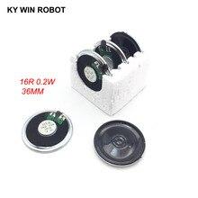 5pcs/lot New Ultra-thin speaker 16 ohms 0.2 watt 0.2W 16R Diameter 36MM 3.6CM thickness 5MM