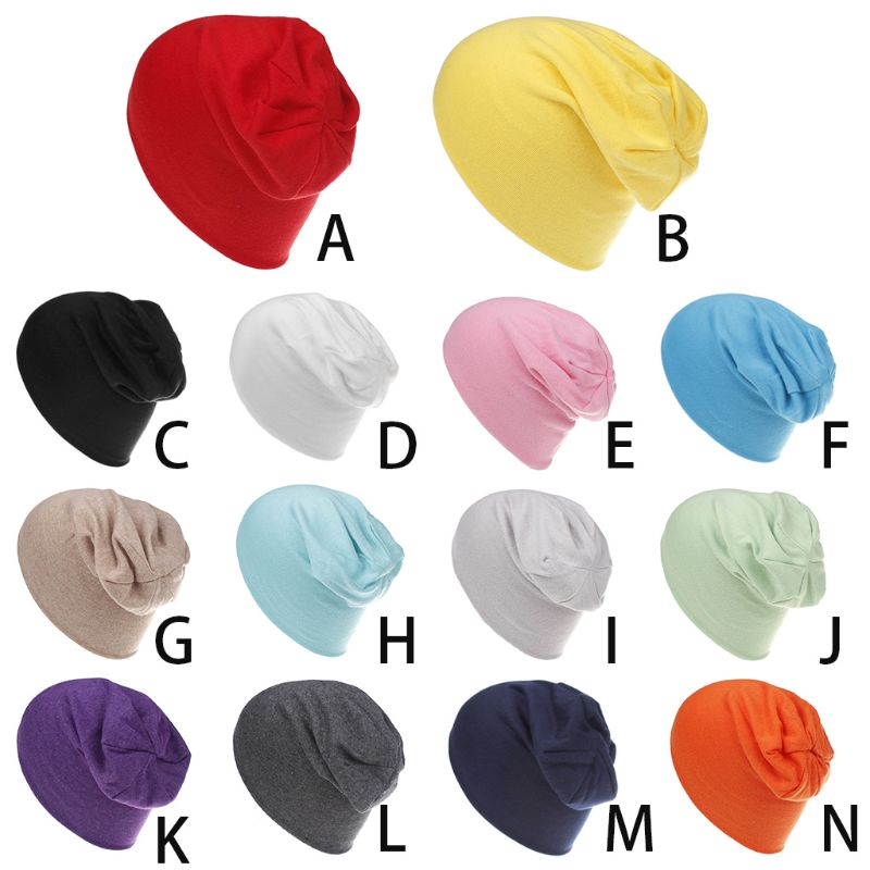 Fashion New Spring Kids Unisex Children Colorful Infant Soft Cotton Cute Cap Beanie Hats Solid Color Elastic Caps for Boys Girls