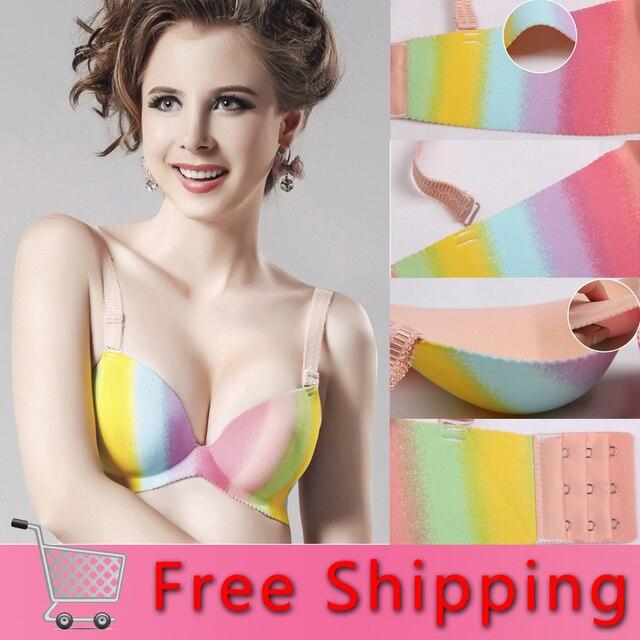 e5691bb6cf9 Free shipping Rainbow Bras