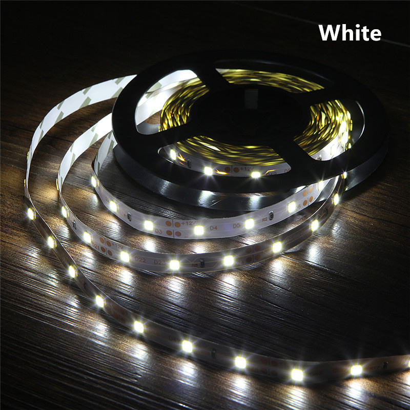12V DC Power LED Strip Light RGB 2835 3528 SMD HDTV TV Desktop PC Screen Backlight & Bias Lighting 1M 2M 3M 4M 5M NOT Waterproof