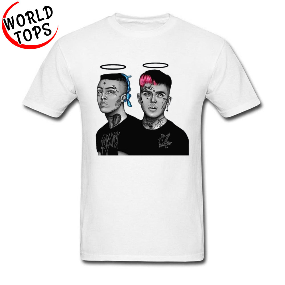 XXXTentacion n Lil Peep 666 Hybrid T Shirts Hip Hop Rock Singer Popular T-Shirts Mens Fashion Clothing High Quality Raper Tshirt