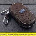 Subaru части высокое качество крышка ключ кожа для Subaru Legacy Impreza Subaru BRZ Forester Subaru XV Змея Печати стиль ключ кольца