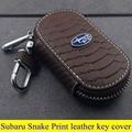 Subaru parts high quality leather key cover for Subaru Legacy Impreza Subaru BRZ Forester Subaru XV Snake Print style key rings