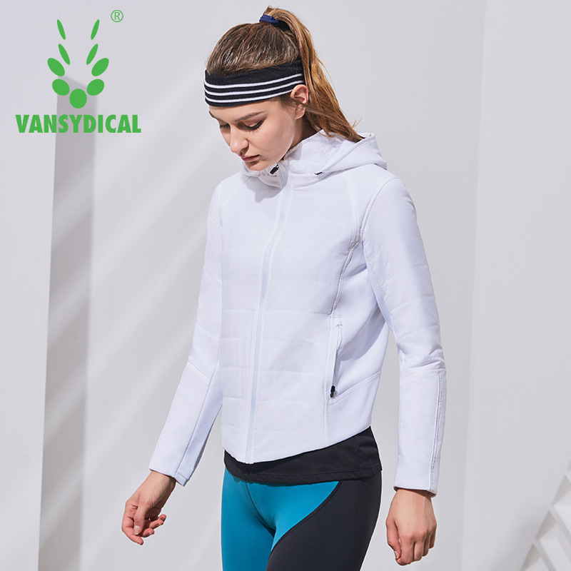 Vansydical Women Down Jacket Sports Jackets Women Hooded Running Jackets Windproof Sportswear Tops Fitness Running Yoga Jacket available from 10 11 running jacket women 1296868 948