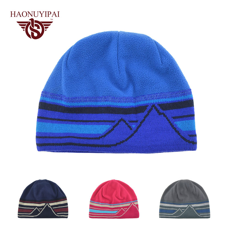 Brand Fashion Winter Beanies Hats Men Women Warm Knitted Hat Cap Casual Outdoor Bonnet Gorros Stripe Thickern Caps Unisex BY06 new arrival men knitted hat high quality brand designer winter cap fashion warm men beanie outdoor casual caps