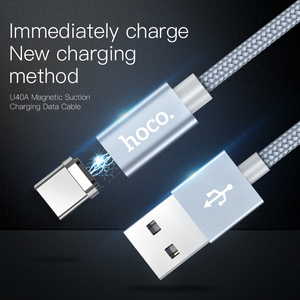 Image 2 - HOCO Magnetic Type C Cable Fast Charger USB Type C USB C Charger Data Magnet Cable For Xiaomi Huawei LG Mobile Phone Cables 1m