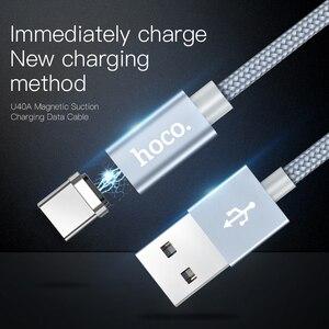 Image 2 - HOCO Từ Tính Loại C Sạc Nhanh USB Loại C USB C Sạc Dữ Liệu Nam Châm Dành Cho Xiaomi Huawei LG điện Thoại Di Động Dây Cáp 1M