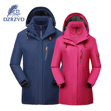 DZRZVD hiking clothing Long section of outdoor windbreaker men windproof outdoor clothes
