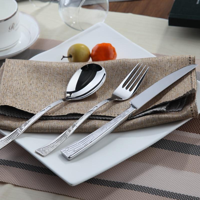 Aliexpress Com Buy Cutlery Steel Set Silver Cutlery Set