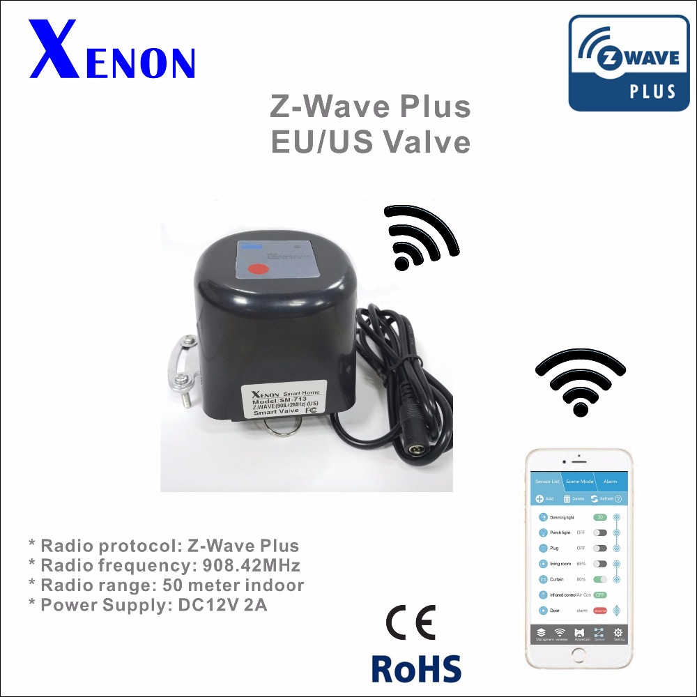 Xenon Z-Wave Smart Valve wireless  technology,smart home system 908.42MHz US / 868.42MHz EU smart home z wave wireless switch module two relays