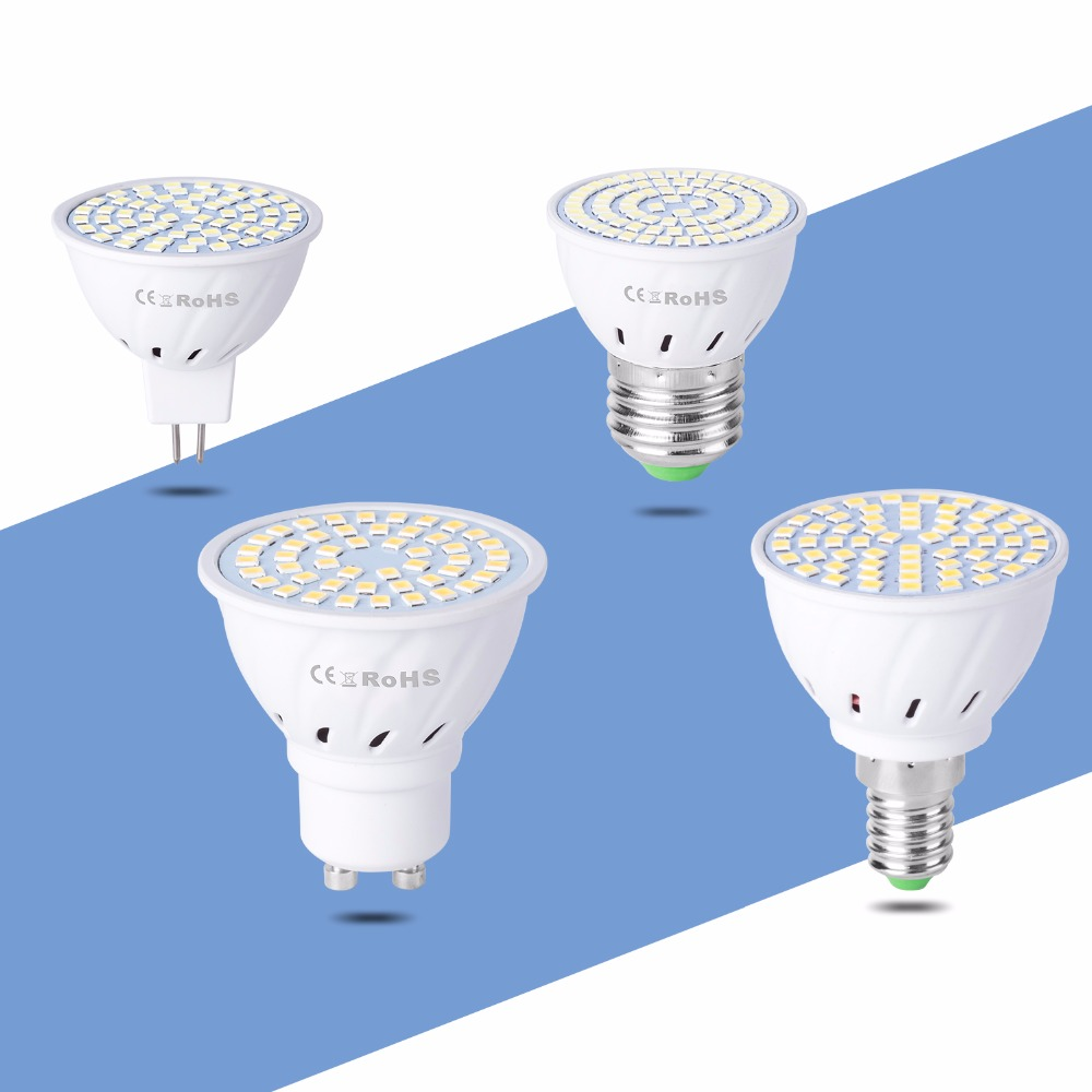 4pcs gu5 3 lampada led e14 220v gu10 spotlight mr16 lamp for Lampada led e14