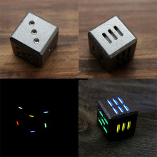 21pcs Tritium Tube TC4 Titanium Alloy EDC Transport Dice Can Be Red Wine Play Good Product Multi Tools