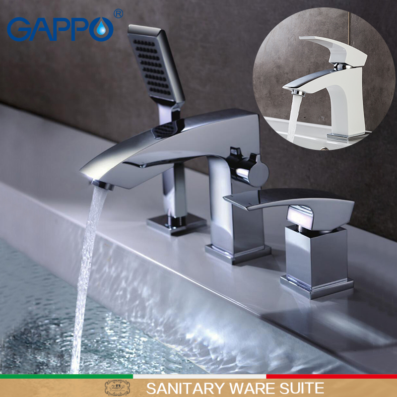 GAPPO bathroom taps basin faucet bathroom taps bathtub shower waterfall bath faucets Sanitary Ware Suite