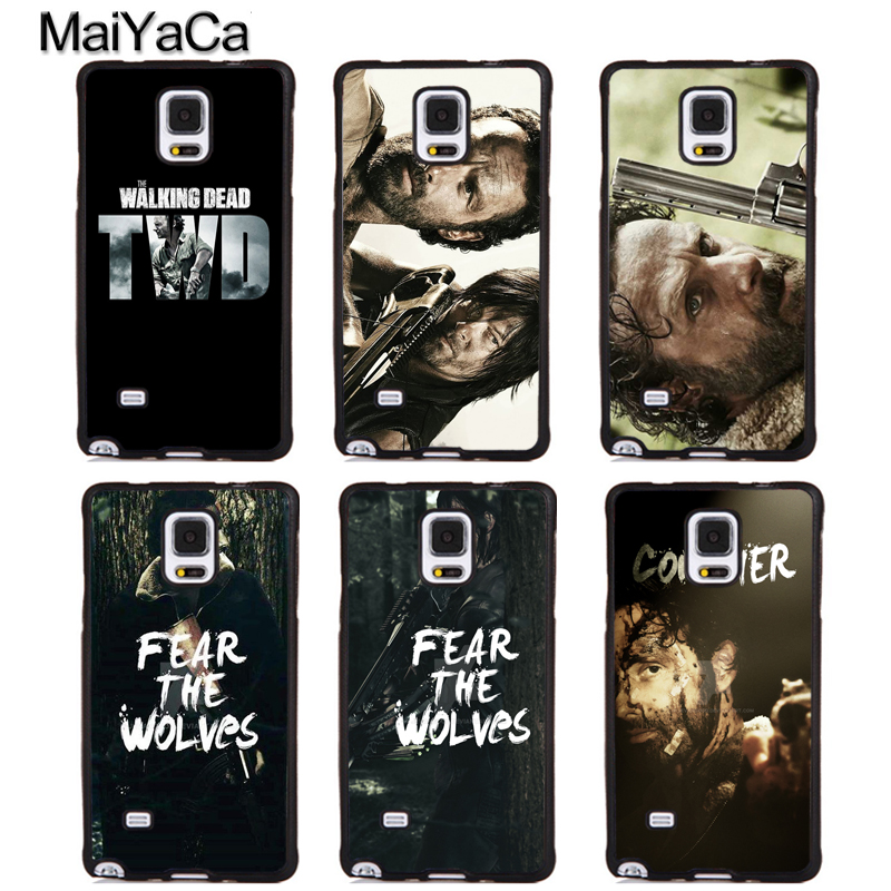 MaiYaCa The Walking Dead Rick Daryl Soft TPU Phone Cases For Samsung Galaxy S4 S5 S6 S7 edge plus S8 S9 plus Note 5 8 Back Cover