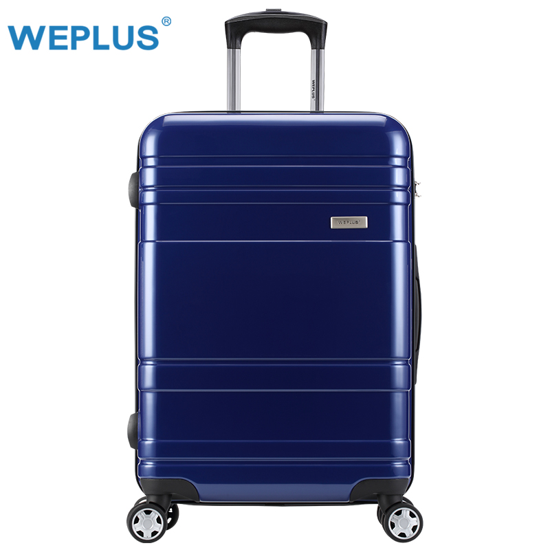 "24"" inch travel suitcase trolley pc  blue  bagages vintage Luxury women Luggage Women Travel Rolling Suitcases box wholeslae men"