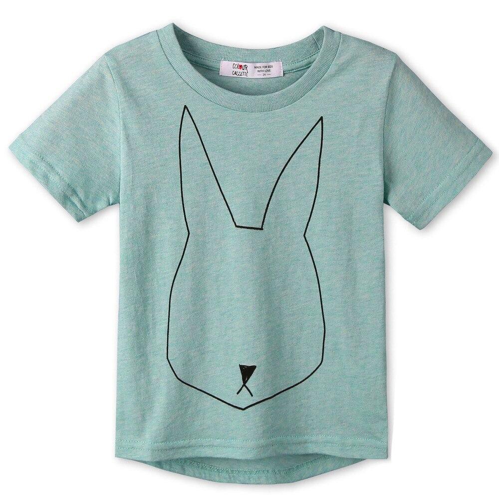 2017 New Summer Children Clothes 100% Cotton Cartoon Print Short Sleeves Kids boy's girls T-shirt Baby High-quality Tops 5Styles