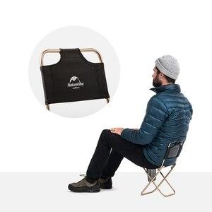 Image 4 - 네이처하이크 초경량 미니 접이식 의자 휴대용 야외 문 낚시 의자 캠핑 하이킹 바베큐 의자 확장