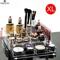 Modern Simple Big Space Transparent Cosmetic Storage Box Desktop Dresser Drawer Style Skin Care Lipstick Box