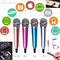Fashion Wired Portable Mini Microphone Stereo Condenser Mic For IPhone IOS Android Smartphone PC Laptop Chatting Singing Karaoke