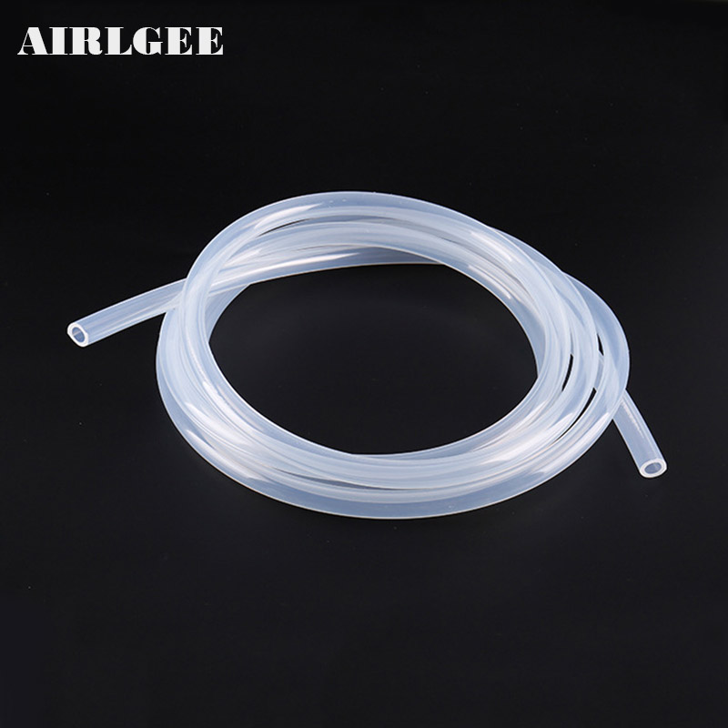 1 Meter Food Grade Transparent Silicone Rubber Hose 4 5 6 7 8 10 12 14 16 25mm Out Diameter Flexible Silicone Tube(China)