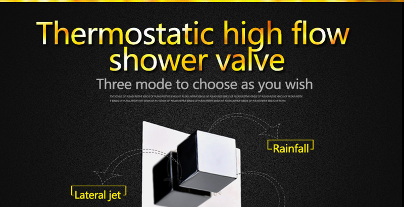 Thermostatic Bath Room Shower Faucets Shower Head 6 Massage Jets Spa Body Spray Shower Set (17)