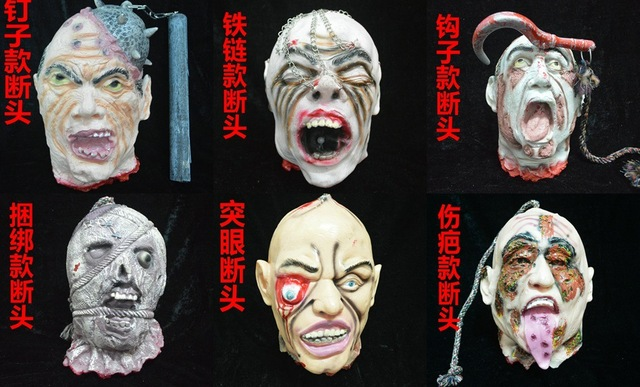 Free shipping 1PCS Random style Halloween large-sized horrible beheaded Good for The haunted house decoration items