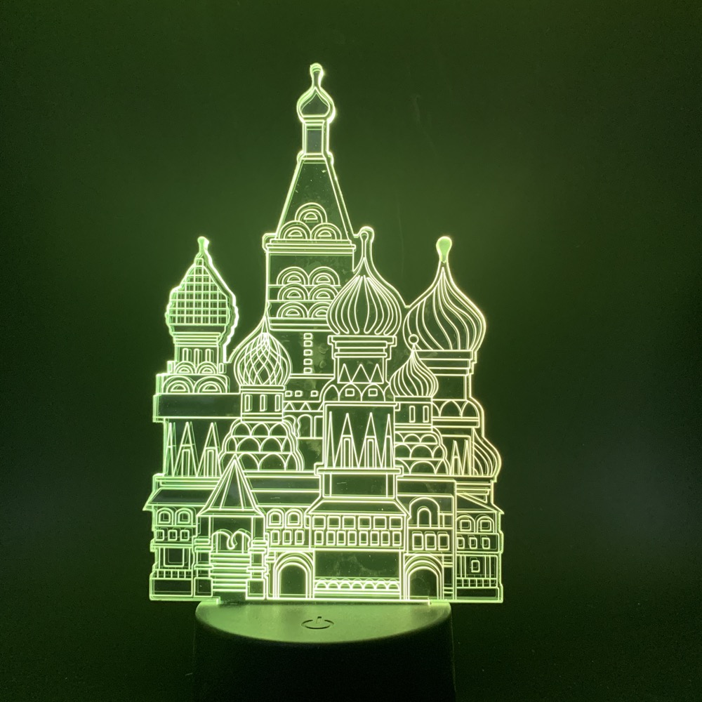 Cartoon Beautiful Cinderella Castle Color Changing 3d Illusion Led Night Light for Baby Girl Bedroom Decor Nightlight Table Lamp in LED Night Lights from Lights Lighting