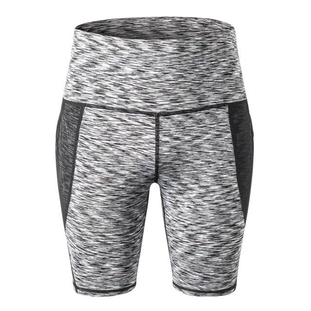 Sport Shorts Women Compression Shorts Women Sports Pocket Leggings High Waist Elastic Running Shorts Fitness Gym Short Feminino 2