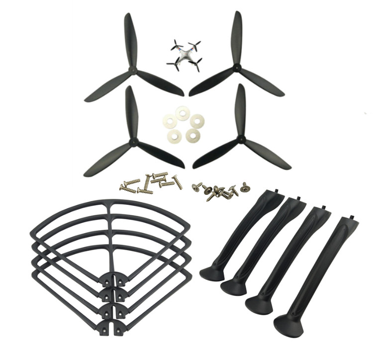 SYMA X8 X8C X8G X8W X8HC X8HW axis propeller blades upgrade drone black protective sleeve protective ring gear tripod