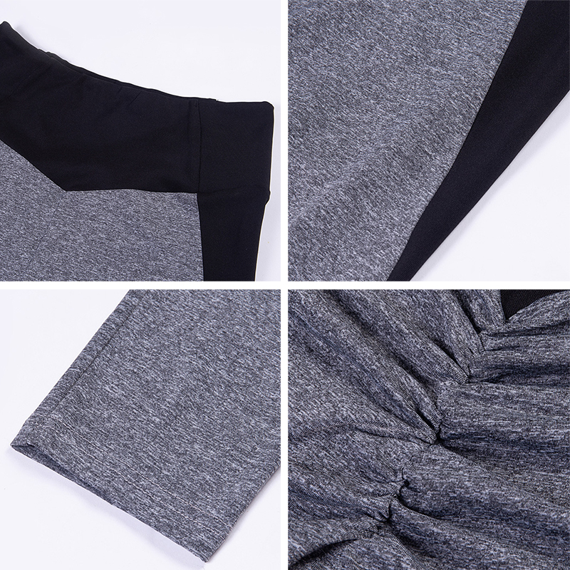Image 5 - NORMOV Fashion Patchwork Women Leggings High Waist Elastic Push Up Spandex Ankle Length Legging Causal Leggings Fitness Female-in Leggings from Women's Clothing